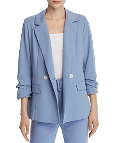 CHRISELLE LIM - Ruched Double-Breasted Blazer - 100% Exclusive